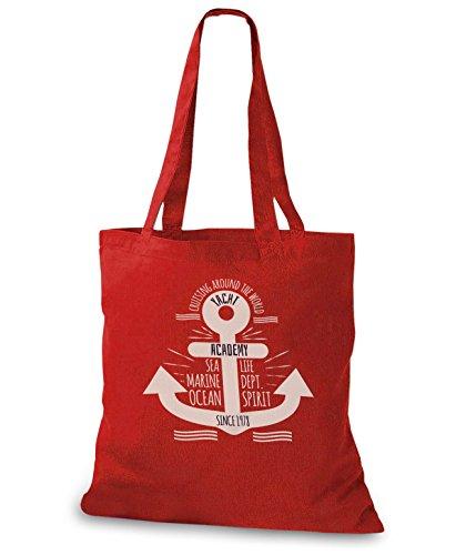 StyloBags Jutebeutel / Tasche Yacht Academy Rot