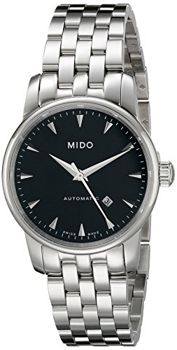 Mido M76004181 Women's Baroncelli Jubilee Black Dial Steel Bracelet Automatic Watch