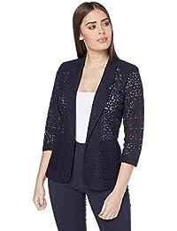 8a04fc6164800 Roman Originals Womens Floral Lace Smart Blazer Wedding Occasion Jacket -  Ladies Blazers Cardigan Jackets - Autumn Elegant…
