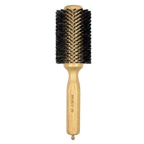 Dianyi Professionel Brosse à cheveux Rond Naturel Peigne Frisé en Poils de Sanglier Rouleau Outil de Style de Coiffure 2.6 Inch