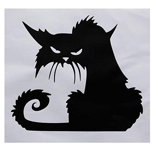 HAWPPWY Halloween Halloween Schwarze Katze Wandaufkleber Wohnaccessoires, schwarz, groß -