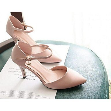 Moda Donna Sandali Sexy donna tacchi Comfort estivo Casual in pelle Stiletto Heel fibbia nero / rosa / Beige Altri beige