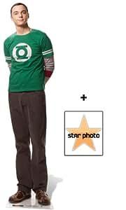 Fanbündel - Dr Sheldon Cooper Lebensgrosse Pappfiguren / Stehplatzinhaber / Aufsteller (Jim Parsons The Big Bang Theory) - Enthält 8X10 (25X20Cm) starfoto