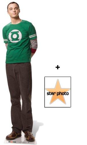 Dr Sheldon Cooper Personnage Découpé Dans Du Carton / Silhouette En Carton: Grandeur Nature / Standee / Stand-Up (The Big Bang Theory) - Avec Star Photo (Dimensions 25x20 Cm)