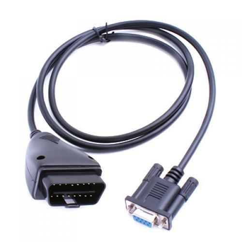 SparkFun Electronics - Cavo di interfaccia con connettori OBD II maschio a 16 poli e RS-232 DB9 femmina a 9 poli (per porta seriale), ideale per collegare la centralina dell'auto a un dispositivo diagnostico OBD II, lunghezza 1 m