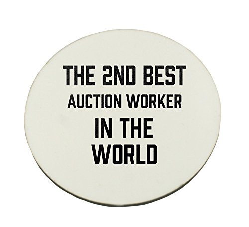 THE 2ND BEST Auction Worker IN THE WORLD round mousepad