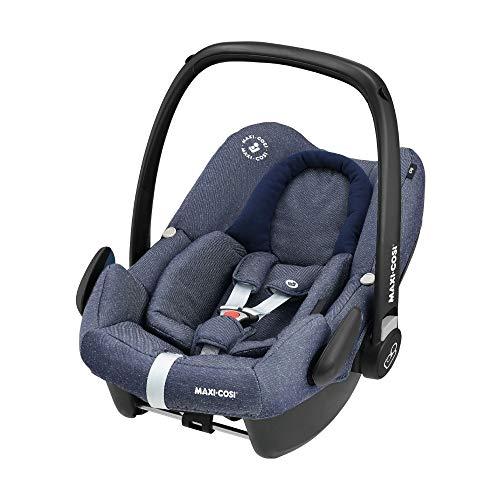 Maxi Cosi Rock Babyschale, sicherer i-Size Kindersitz, Gruppe 0+ (0-13 kg), nutzbar ab der Geburt bis 12 Monate, sparkling blue