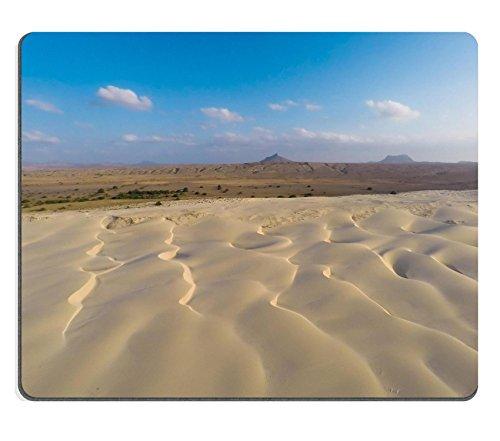 Luxlady Gaming Mousepad immagine ID: 34755375Aerial View on Dune di sabbia in spiaggia Praia de Chaves Chaves in Boavista Capo Verde Cabo Verde