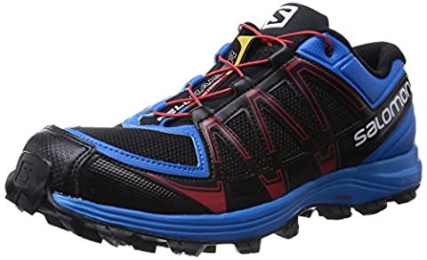 Salomon Fellraiser, Chaussures de Trail homme, Multicolore (Black/Methyl Blue/Quick), 42 EU