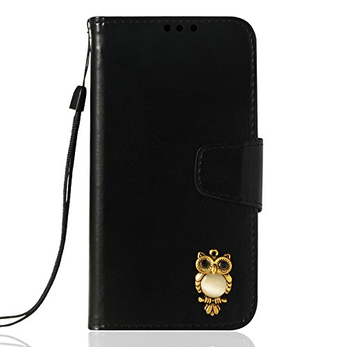 DENDICO Cover Galaxy S8 Plus, Flip PU Cuoio Custodia, Premium Portafoglio Caso in Pelle con Slot per Schede e Funzione Supporto, Libro Magnetica Protettiva Cuoio per Samsung Galaxy S8 Plus - Nero