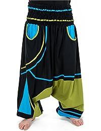 - Sarouel elastique grande taille mixte noir bleu vert Neonew -