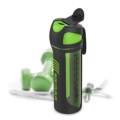 AVOIN colorlife Botella de Agua Resistente a los Golpes con Tapa de Fugas de Agua y Derrame de Agua de 550ml - No tóxico, Sin BPA & plástico ecológico de Tritan Co-Poliéster
