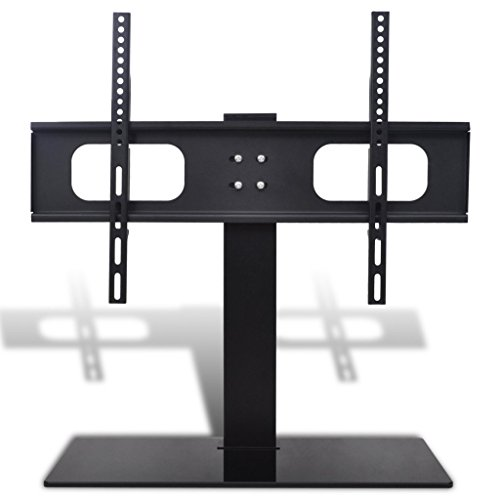 Festnight TV-Halter TV Halterung mit Standfuß Ständer Fernseherständer 600x400mm Tragfähigkeit von 45kg für 32 Zoll - 70 Zoll TV-Bildschirmgröße Vesa-basis