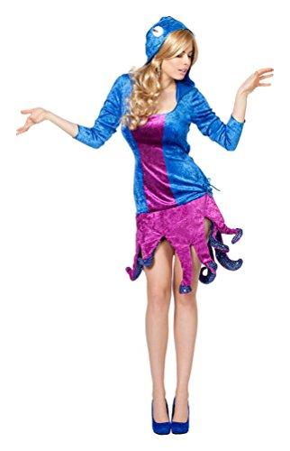 ,Karneval Klamotten' Kostüm Sexy Oktopus Dame Karneval Krake Damenkostüm Größe 44