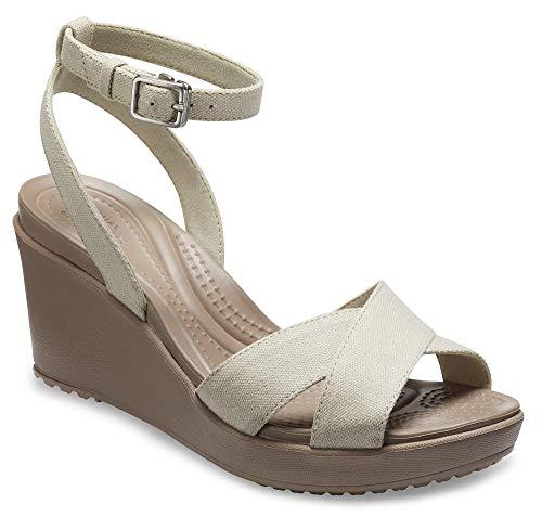 crocs Women's Leigh Ii Cross-Strap Ankle Wedge