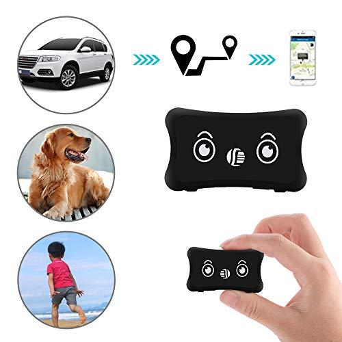 GPS Gerät Tracker mit App Finder, Likorlove Mini Wasserdichte Leichte Anti Verloren Locator mit Wiederaufladbar Akku Halsband Erweiterung Online Tracking für Hund Katzen Haustiere KFZ Personen per SMS - Tracking Gerät Tiere Für