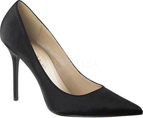 Pleaser  CLASSIQUE-20, Chaussures à talons - Avant du pieds couvert femmes Blk Satin