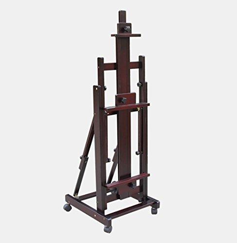 Chevalets Chevalet en bois massif grand chevalet en bois horizontal et vertical multi-usages chevalet en bois à quatre roues chevalet peinture