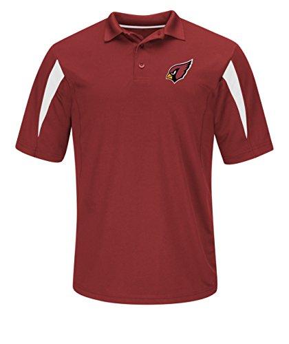 VF VSG Erwachsene Herren NFL durch Short Sleeve Synthetik Polo, DE16-587, Bright Garnet-White, S -
