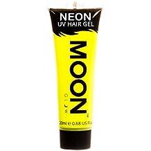 Moon Glow - Gel para el Cabello Neón UV - Intenso Amarillo 20 ml - ¡Péinate de punta y brilla!