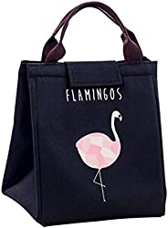 Black Flamingo Portable Lunch Bag Thermal Insulated Cold keep Food Safe warm Lunch bags For Girls Women