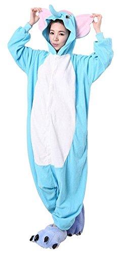 sie Jumpsuits Anime Kostuem Erwachsene Pyjama Overall Hausanzug Kigurum Elefant XL (Erwachsene Anime Cosplay)