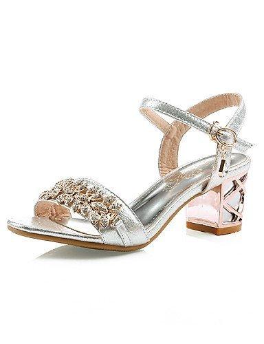 ShangYi Schuh Damen - Hochzeitsschuhe - Absätze - Sandalen - Hochzeit / Büro / Kleid / Party & Festivität - Silber / Gold Silver