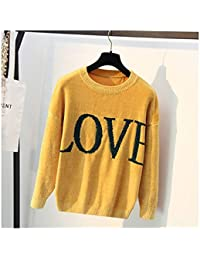 50042d4c87e1 SIKESONG Lose Große Chenille Strickpullover Pullover Liebesbriefe Muster  Pullover Vintage Herbst Winter Pullover Mantel