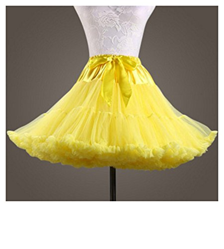 Cystyle Damen Kurz Petticoat Tüll Ballett Tanzrock Tutu Ball Kleid Mehrfarbengroß Unterröcke Stil 3