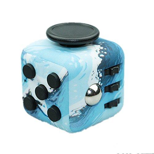 Tuer le temps Dice Cubes anti-anxiété et de dépression pour les enfants et les adultes, adapté pour Office, étude, Voyage Dice (Bleu de la mer)