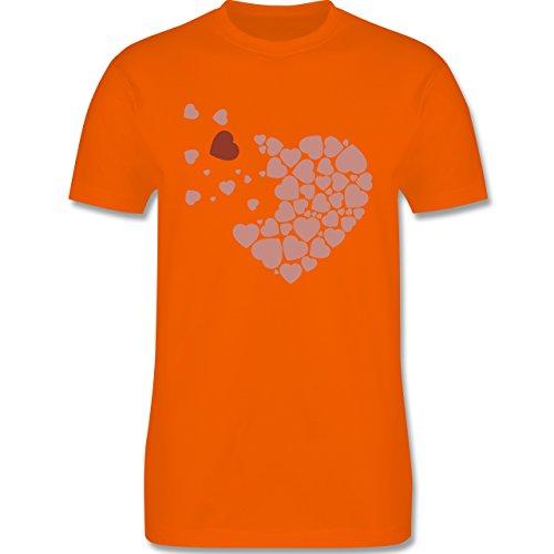Romantisch - Herz Herzchen - Herren Premium T-Shirt Orange