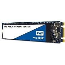 WD Blue 3D NAND 1TB SATA M.2 SSD interne Festplatte. Verbesserte Energieeffizienz. Für Multitasking und ressourcenintensive Anwendungen WDS100T2B0B