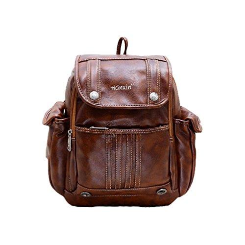 Koola's bag Girl's Sac à Dos avec des Boutons à la Mode Style Facultée Rétro Sac Rajeunissemente 4 Couleurs