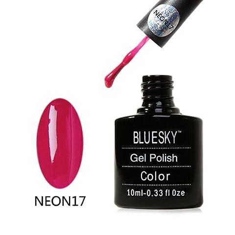 N17 Bluesky Very Berry NEON Range Soak Off Gel Nail Polish 10ml