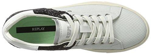 Replay Damen Lolard Sneaker Schwarz (White Black)