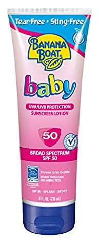 Banana Boat Baby Tear Free Sunblock Lotion SPF 50 Water Resistant 235 ml