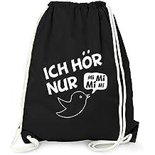 69b512db46e03 MoonWorks Turnbeutel mit Spruch - Ich Hör Nur Mimimi - Lustig Beutel Tasche  Jutebeutel Gymbag