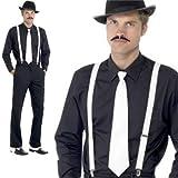 "Herren 20's 30 ""Gangster-Kostüm Hut, Krawatte, Hosenträger, TASH, al capone SPATS"