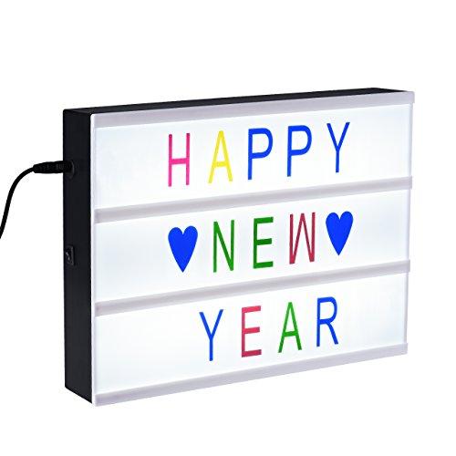 LED Kino Leichte Box A4, TOPELEK Filmischen Licht Leuchten Ihrem Leben mit LED Licht, 96 Farbige Wörte, Zahlen und Zeichen, für Spaß- Anpassbare Nachricht. (Dekorative Home-zeichen)