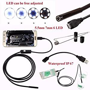 Nave 5.5 mm Waterproof USB Endoscope Inspection Digital Camera with 2 m Cable for Android Phone