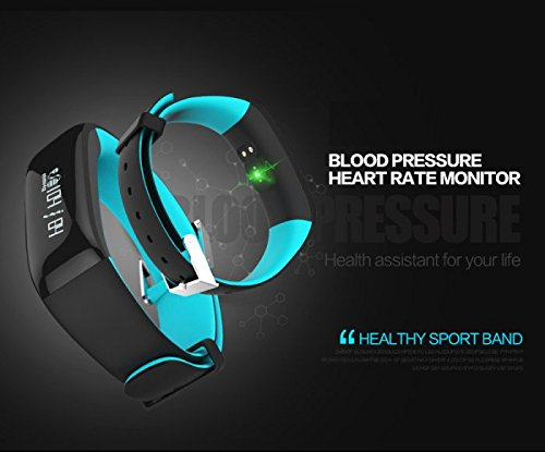 IVS Smart Healthy Fitness Sports Tracker wristband with Blood Pressure and Heart Rate Monitoring Blue