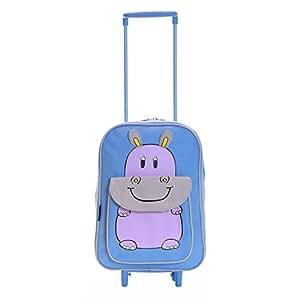 Karabar Faune Trolley Sac Enfants (Bleu Hippo)