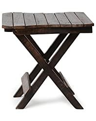 Crafts A to Z Wooden Beautiful Design Folding Table For Living Room Size(LxBxH-12x12x12) Inch