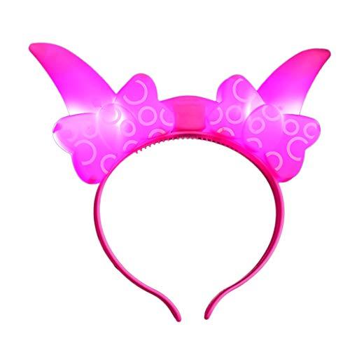 y Haarband Blumen Kopfschmuck Haarband, Einhorn Kopfbedeckungen Stirnbänder Baby Mädchen-Stirnbänder Bowknot Haarschmuck für Mädchen Kinder Stoff Haarband Geburtstagsfeier Karneval ()