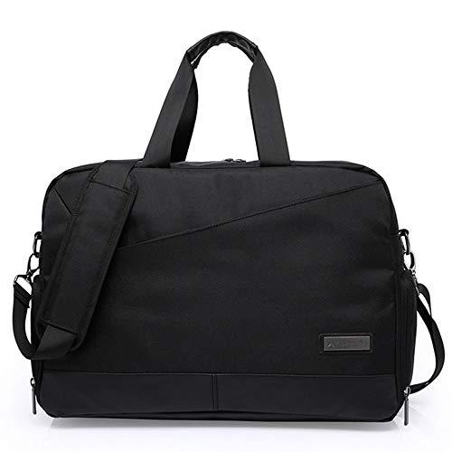 Aszhdfihas Wochenendtasche Schulter Diagonal Laptoptasche Licht Reisetasche Portable Business Bag Handgepäck (Farbe : Schwarz) -