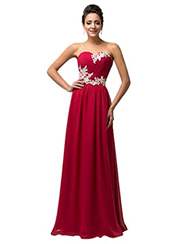 Dark Red Strapless Maxi Gowns Formal Long Bridal Wedding Gown