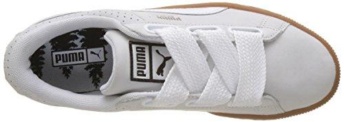 Puma Damen Basket Heart Perf Gum Sneaker Weiß (Puma White-Gold)