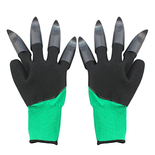 Planting Rose Garden (Zhhlaixing Thorn Resistant Garden Genie Gloves with Claws for Pruning Roses, Digging, Planting, Raking Gardening Gloves)