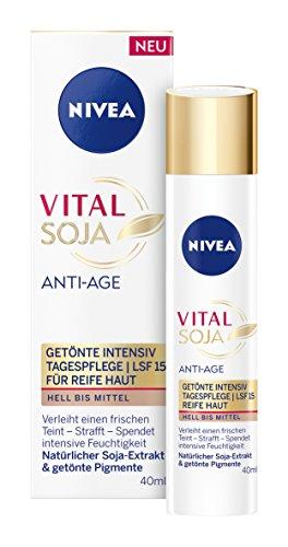 Nivea Vital Soja Anti-Age Getönte Intensiv Tagespflege, 1er Pack (1 x 40 ml)