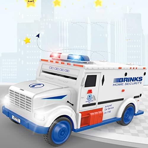 Forart E-Geld-Bank, Kinder-Code-Panzerwagen-Passwort-Sparschweine, Mini-Geldautomaten-Bank mit Lichtern und Musik für Kinder -